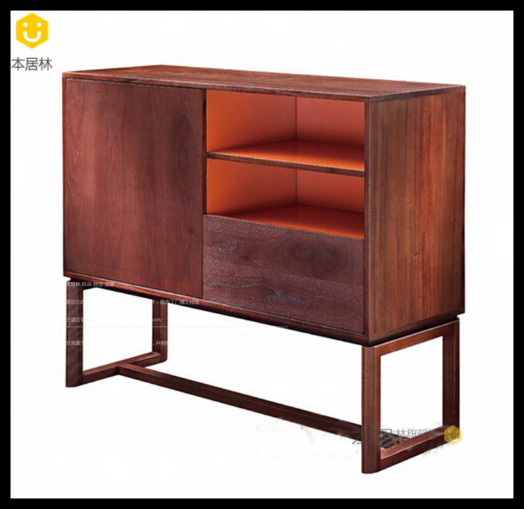 The ranks of lin nordic walnut color minimalist wood sideboard sideboard sideboard custom custom sideboard