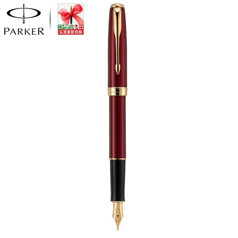 The sf parker parker pens chelsea ruby red gold clip fountain pen ink pen blessing k gold pen