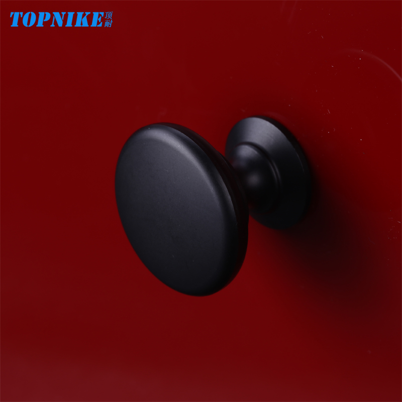 The top of the circular hole handle modern minimalist matte black pellets resistant aluminum alloy handle cabinet drawer handles american