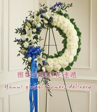 The united states喪gift flower delivery baskets memorial memorial wreath mourning wreath flower cross nosegay Express