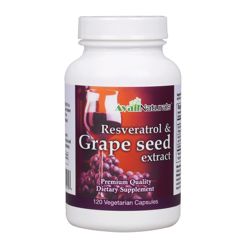 The united states imported avail naturals red wine grape seed extract + resveratrol extract 120 capsules
