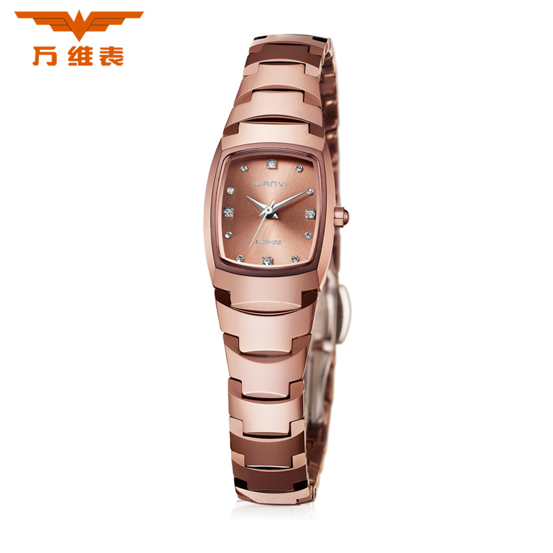 The world wide web ms. genuine couple tables tungsten steel watch business casual waterproof quartz watches rose gold stainless steel waterproof