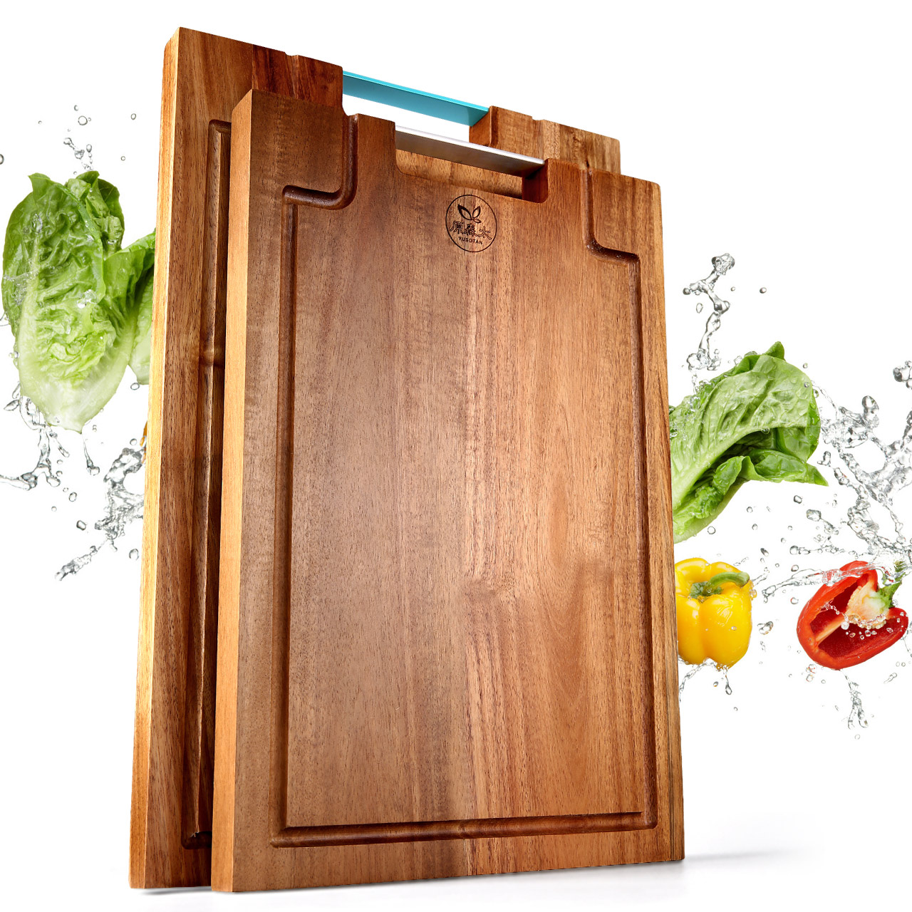 Thick acacia wood haftplatte mildew antibacterial cutting board chopping board panel ganmian large cutting board chopping board panel rub