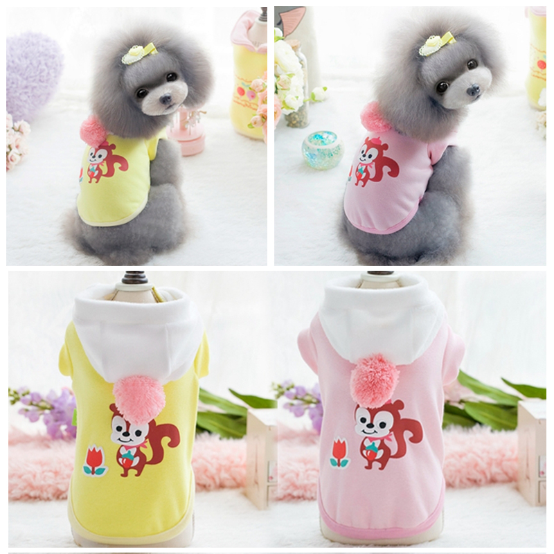 Thick cotton pet dog clothes winter clothes teddy bichon fall and winter clothes fall and winter clothes small dog puppy winter autumn