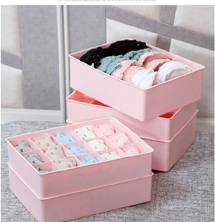 Thick covered plastic storage box bra underwear socks finishing underwear storage box desktop storage object storage box storage bags post