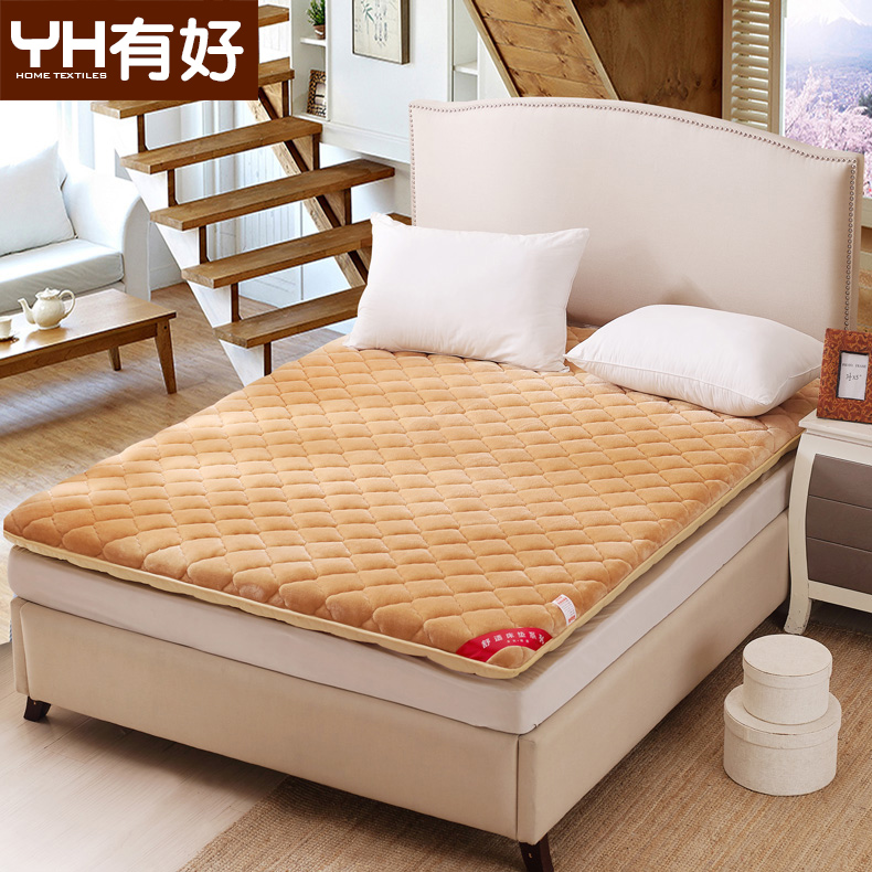Thick flannel tatami mattress foam mattress dormitories single or double pad is 1.5 m/m bed