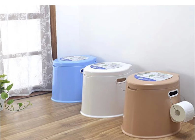 Thick high plastic mobile toilet portable toilet old pregnant adult cuspidor onboard toilet free shipping