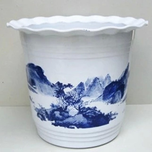 Thick plastic flower pots plastic pots queen king imitation ceramic pots landscape