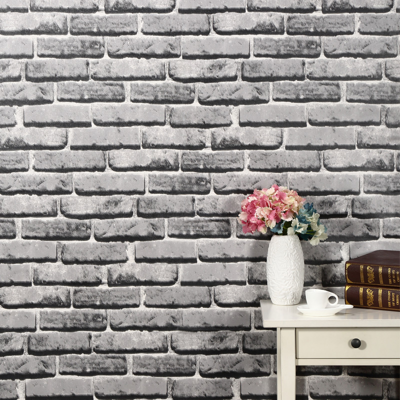 Thick waterproof pvc self adhesive wall stickers wallpaper adhesive wallpaper pattern wallpaper brick dormitory balcony bedroom stickers do not fade