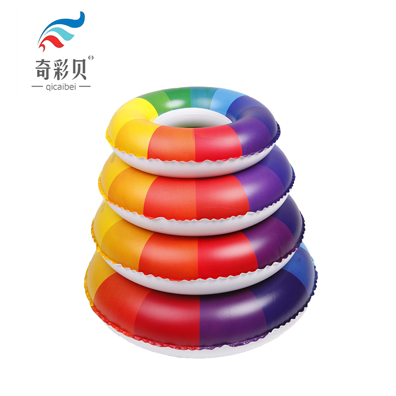 Thickening adult children swimming laps odd color shell vermt rainbow female adult swim ring swim ring armpits thicker type