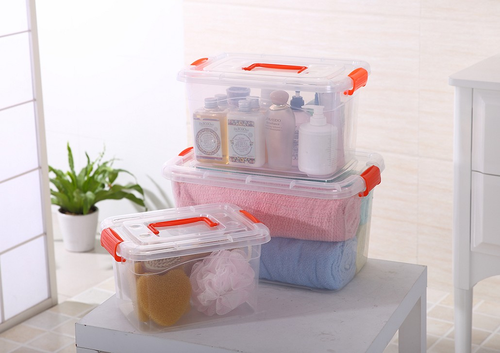 Thickening portable toy storage box with lid order box transparent plastic storage box small food storage box