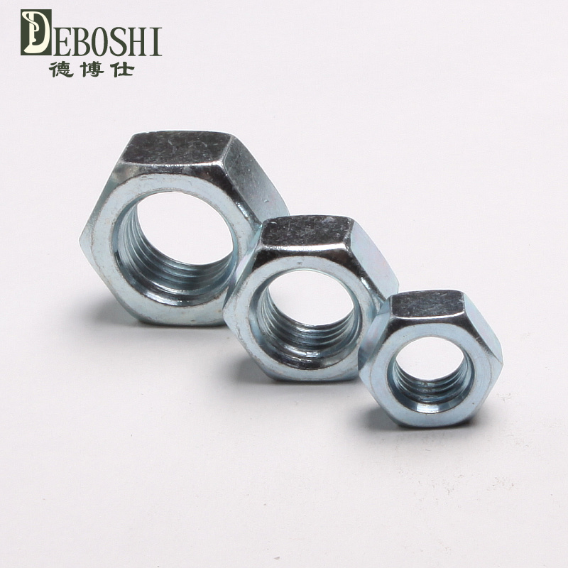 Thin galvanized hex nuts, flat nut, nut m6