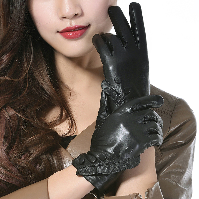 Sexy girl wearing gloves