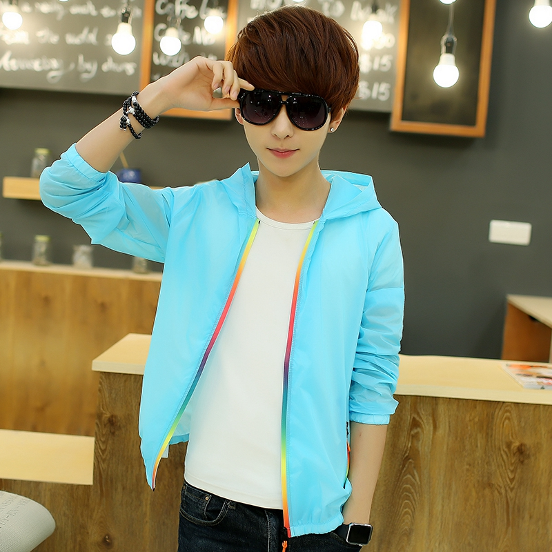 Get Quotations · Thin section summer sun protection clothing korean version  of the trend of men s sweater coat slim 4d0c76f406d9