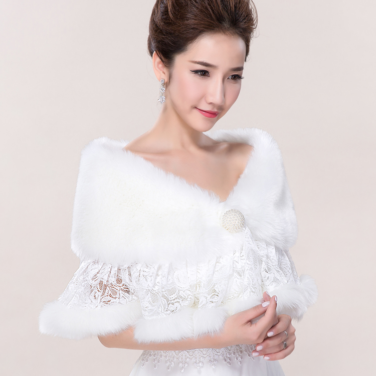 Thousands of colors bride lace stenciling accessorise winter season thick white wedding dress shawl wedding shawl wool shawl cloak