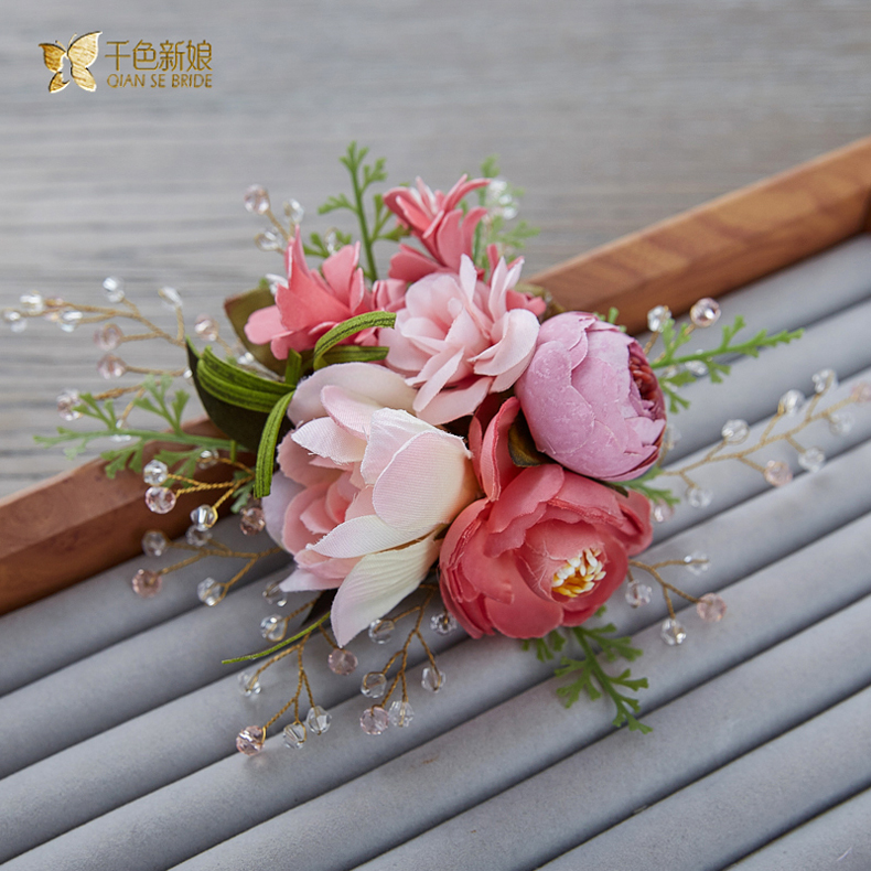 Thousands of colors the bride clara handmade crystal flower hairpin bride bridesmaid dress vacation sen female head flower hair ornaments head ornaments