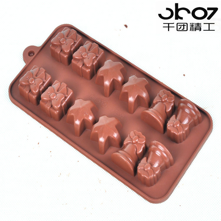 Thousands of groups seiko gift combination of chocolate mold pentagram style silicone chocolate mold easy release