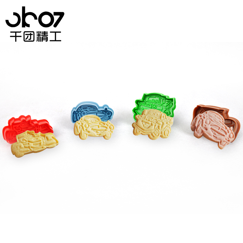 Thousands of groups seiko push biscuit mold suit 3d stereoscopic cut mold fondant mold spring pressing the lightning car