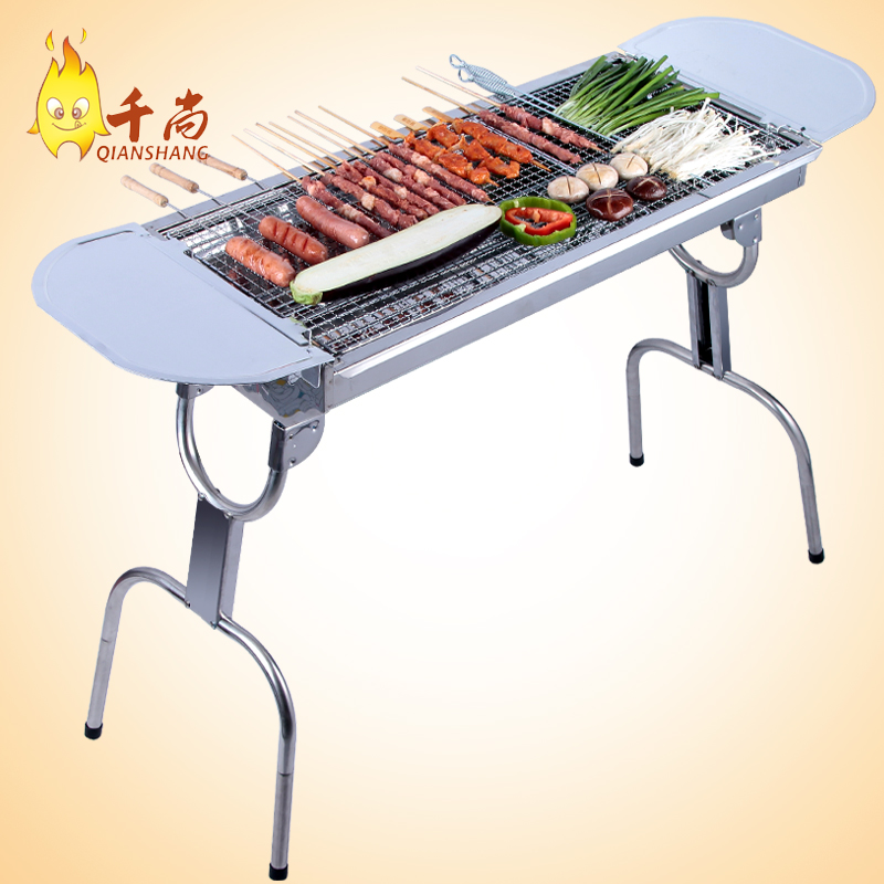 Thousands of united states is still large stainless steel grill home outdoor portable outdoor grill charcoal barbecue grill box