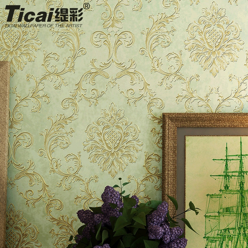 Ti color european retro stereo phnom penh gilt damascus nonwoven wallpaper bedroom living room tv wall wallpaper shop for