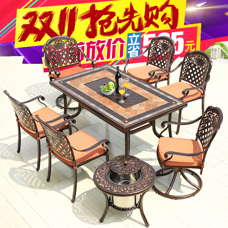 Tianyu into outdoor furniture chairs outdoor furniture balcony tables and chairs outdoor leisure furniture cast aluminum tables and chairs for electric oven