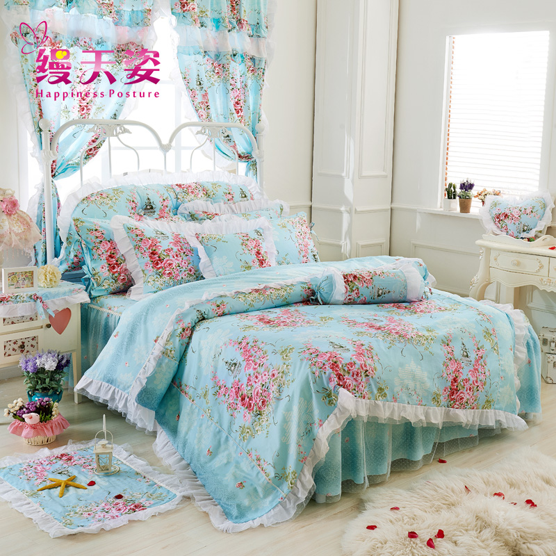 Tianzi unadorned korean princess cotton quilt cotton quilt single piece quilt quilt single double quilt cover special offer free shipping