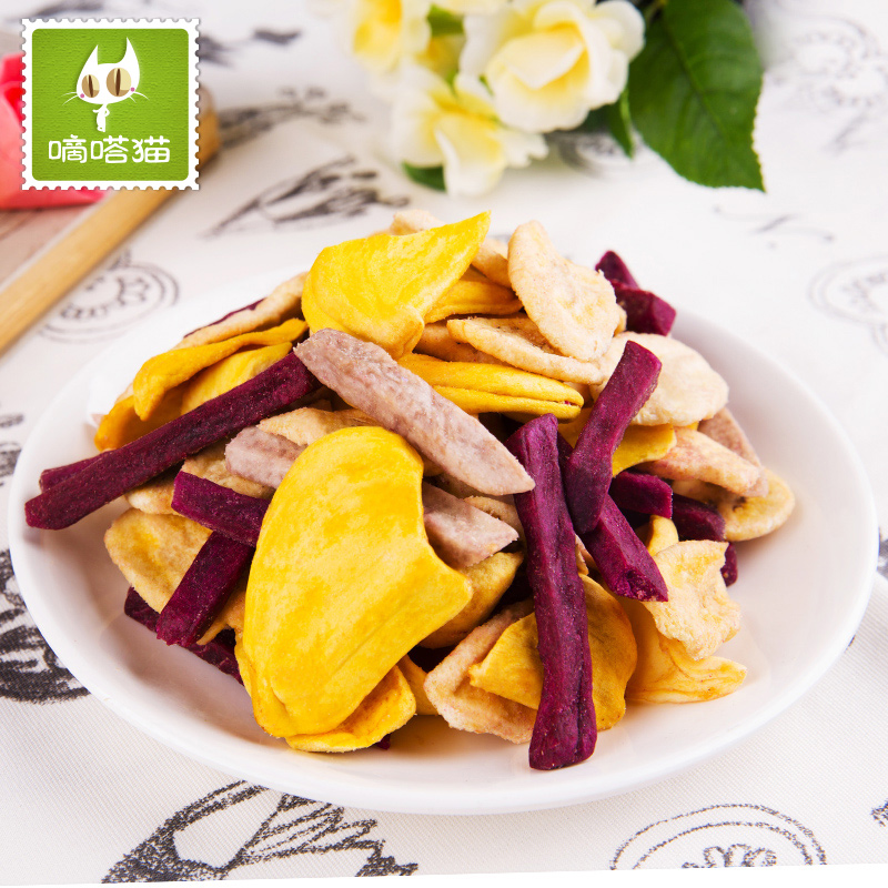 Tick cat 245g mixed fruit and vegetable chips integrated dry fruits dried fruit preserved casual snack foods zero