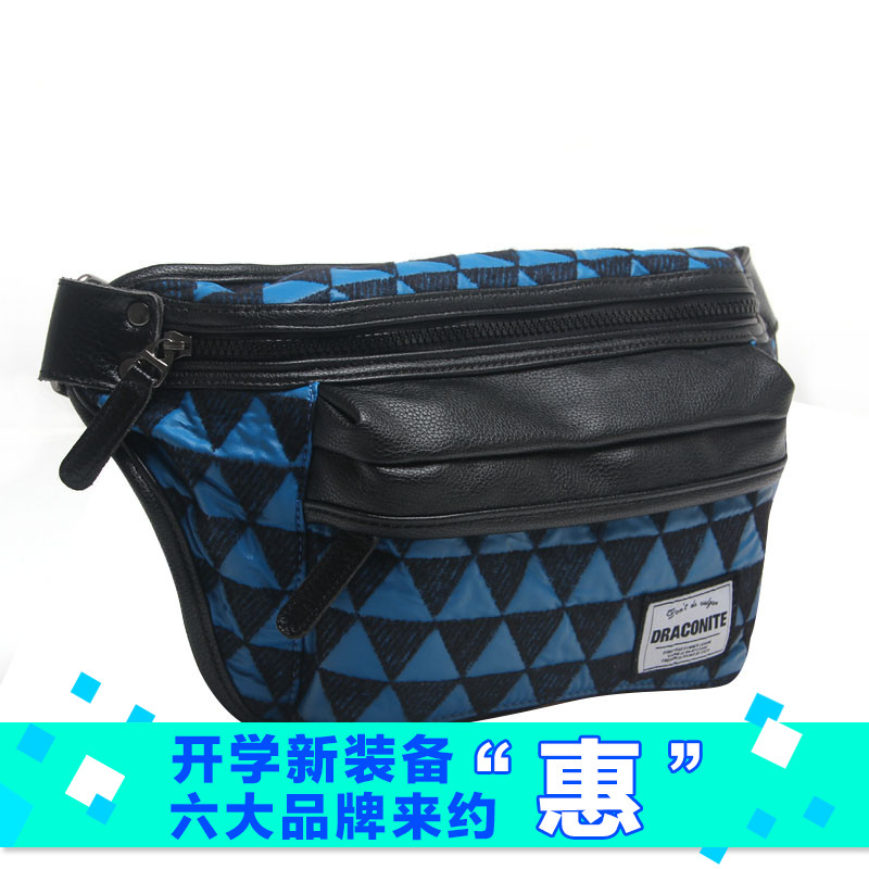 649dd0409368 Get Quotations · Tide brand british style soft pu quilted flannel  multifunction pockets pockets of men geometric pattern messenger