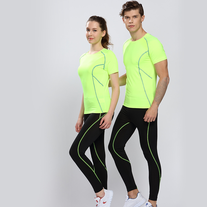 Get Quotations · Tight yoga clothes suit jogging suits for men and women  workout clothes spring and summer stretch 51f6a7d83d