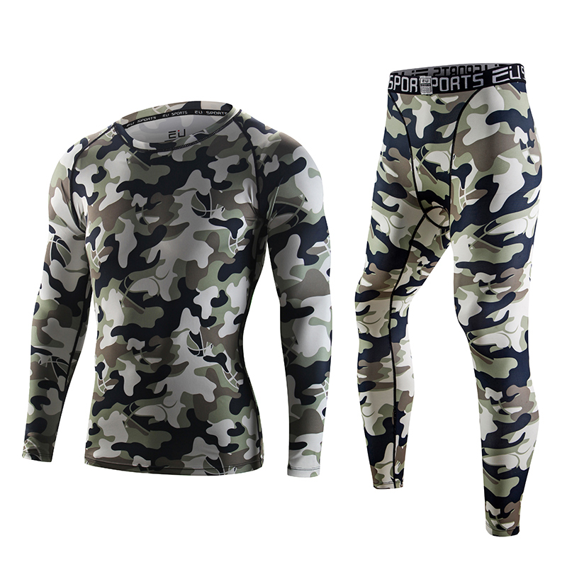 55fc345163 Get Quotations · Tights workout clothes sugan camouflage suit male sports  tights basketball compression garment compression pants yoga