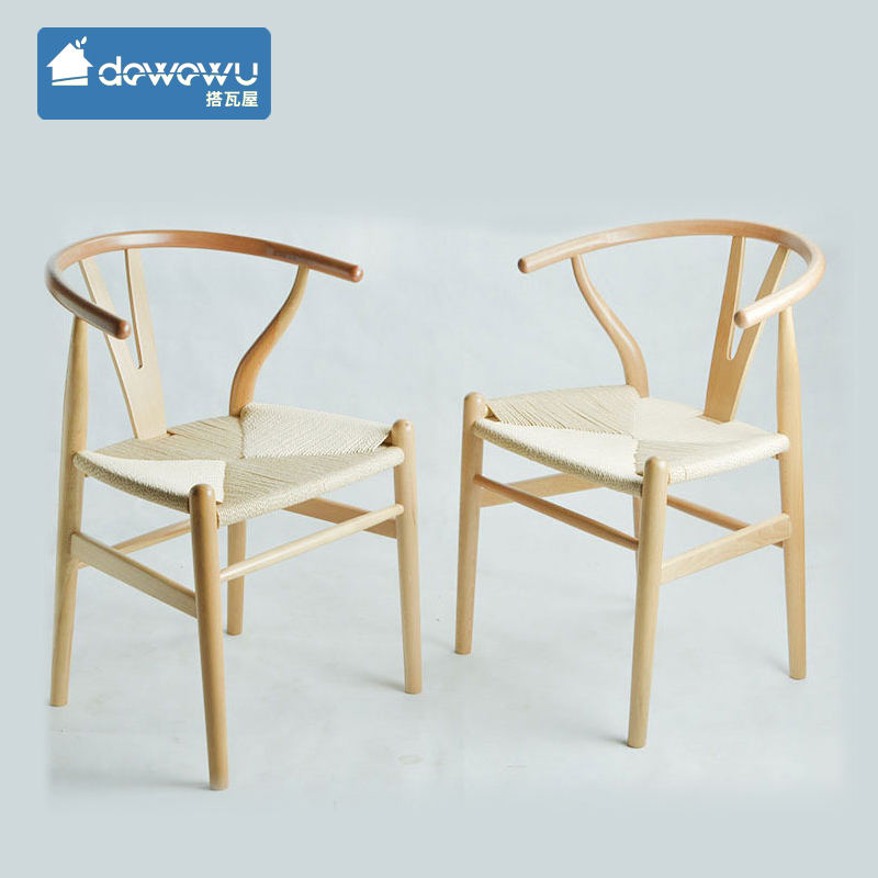 Tile ride y chair wood dining chairs minimalist scandinavian wood den wishbone y chair beech wood chair cafe