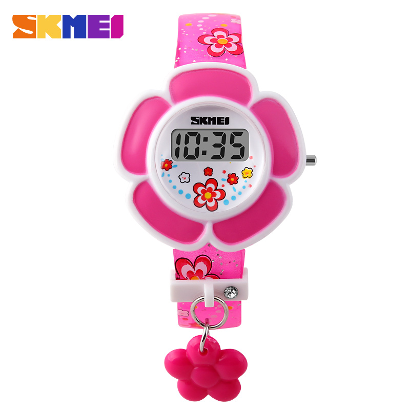 Time us children watch cute girl fashion watch electronic watches creative flower kidless watch female students