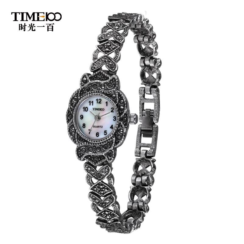 Time100/time one hundred flash diamond bracelet watch ladies watches vintage wrist watch quartz watch female form trend