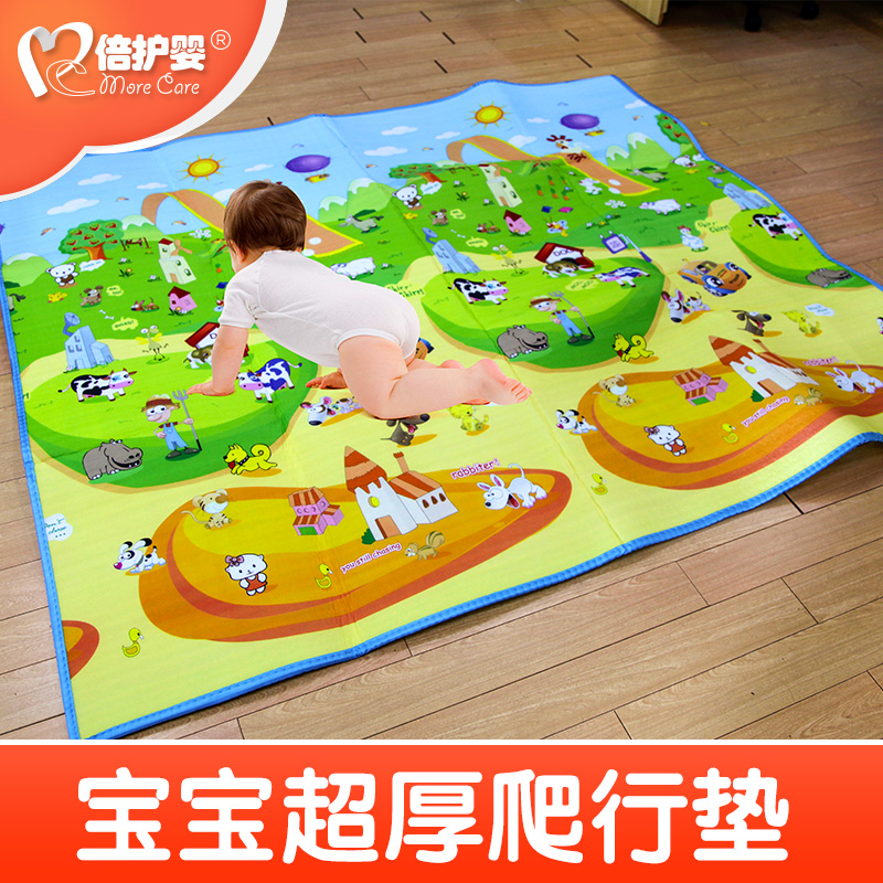 Times nursing infant waterproof infant baby crawling mat thick green foam mats children climb pad game blanket 1 cm