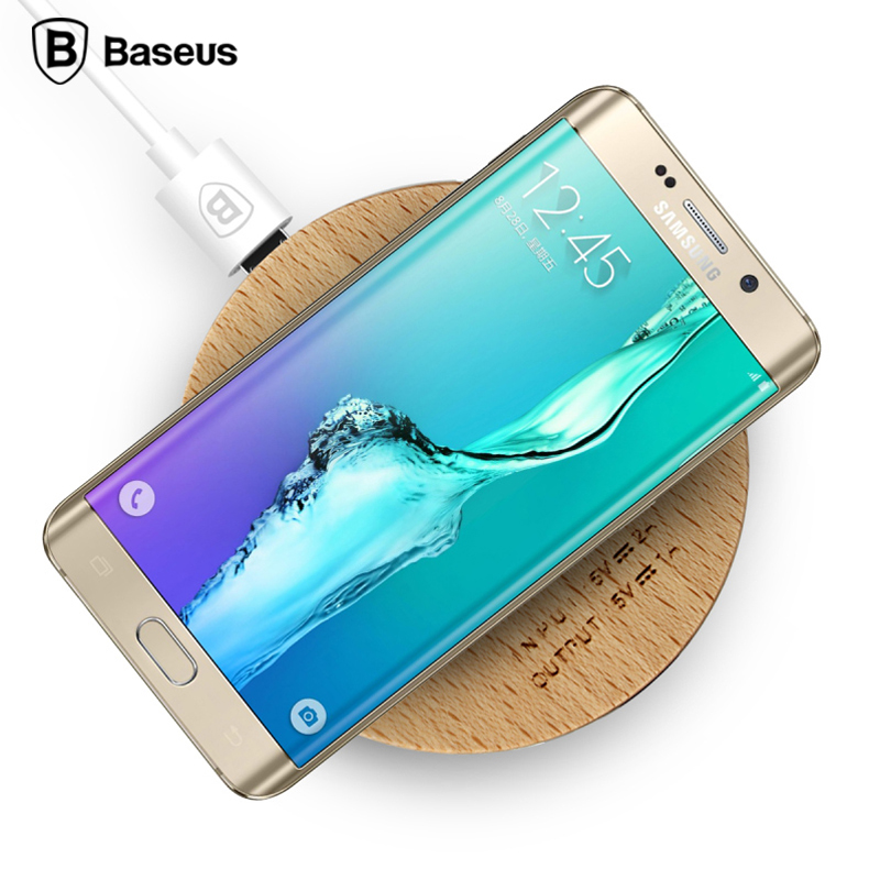 Times thinking qi wireless charger samsung android huawei cell phone s6 s7 edge wood wireless charging cradle