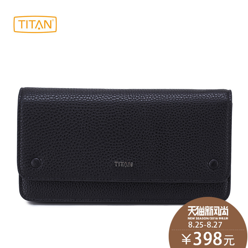 Titan takou big european and american ladies wallet female long section of leather ladies hand bag wallet bill clip wallet female models