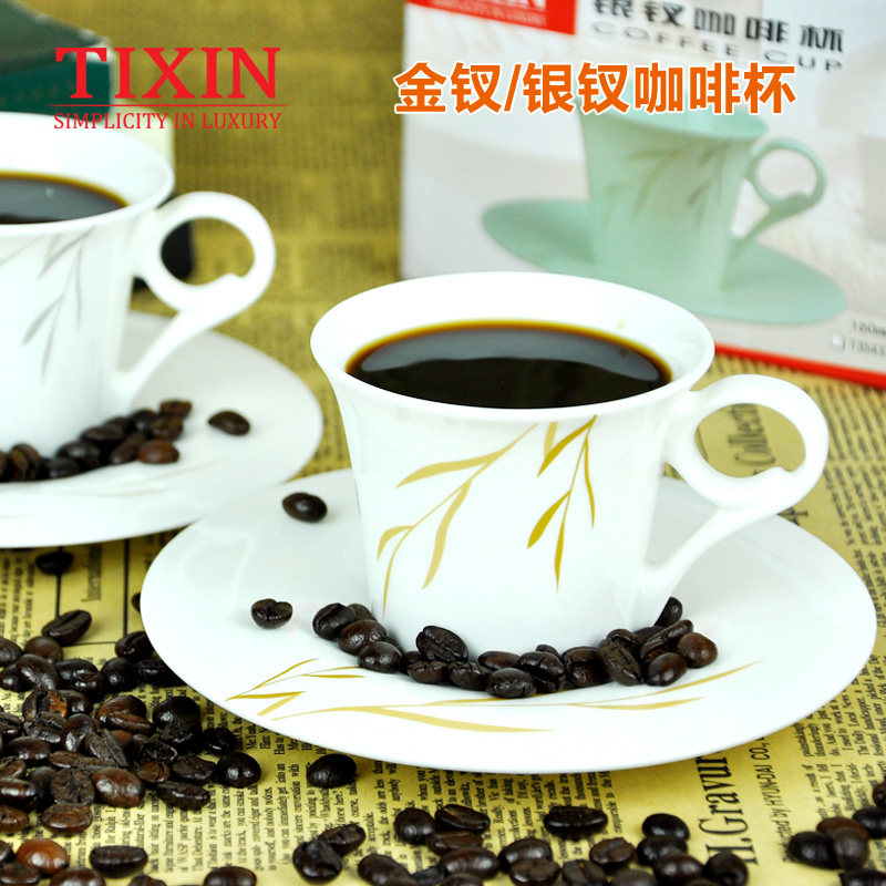 Tixin/ladder addressed to the gold/silver hairpin ceramic coffee cup bone china cup and saucer suit tea cup single product standards
