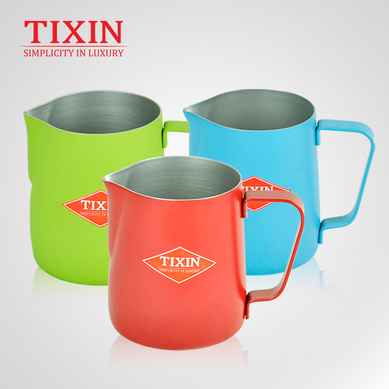 Tixin/ladder letter euclidian teflon garland cup of coffee stainless steel beak garland garland cylinder foam cylinder 350 ml