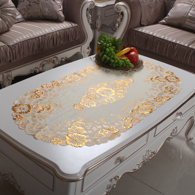 To woo coffee table coffee table mat tablecloth pvc gilt mat rectangular coffee table cloth table cloth waterproof disposable euclidian