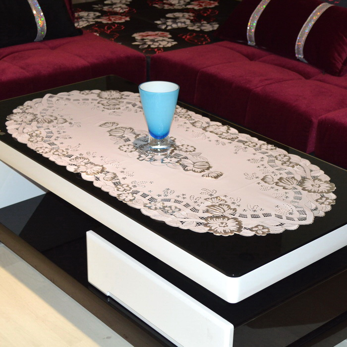 To woo coffee table continental silver hot stamping pvc waterproof oil disposable plastic tablecloth rectangular coffee table mat mat