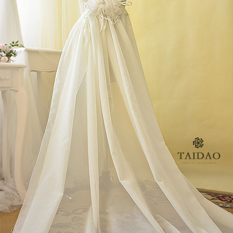Toi france thick chiffon wedding dress fabric yarn yarn wedding dress fabric cloth dress