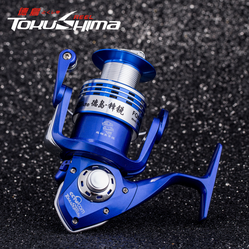 Tokushima fishing vessel full metal head 14 axis 24:1 special sea rod special fishing line fishing line wheel spinning wheel round rock fishing lures