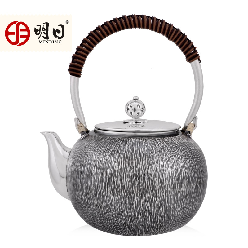 Tomorrow 999 fine silver handmade silver kettle kettle yin hu silver to do the old japanese tea teapot