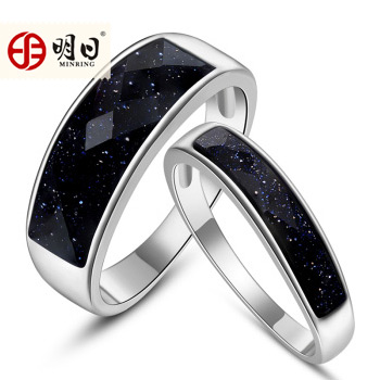 Tomorrow silver couple rings on the ring 925 silver couple rings one pair of new ring zijin sand ring