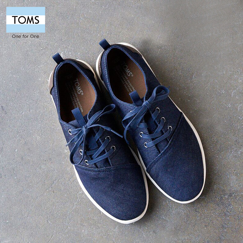 Toms men's 2016 new autumn and winter dark jeans men's dre shirtwaist sports shoes autumn shoes men's shoes free shipping