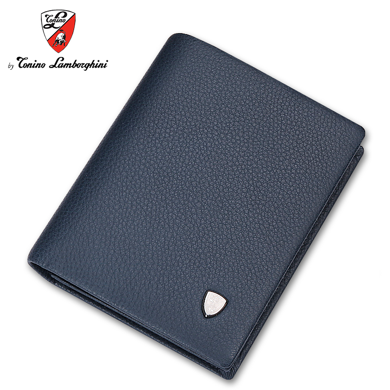 Tonino lamborghini/lamborghini men's business men wallet leather wallet a short section of soft leather folder tide
