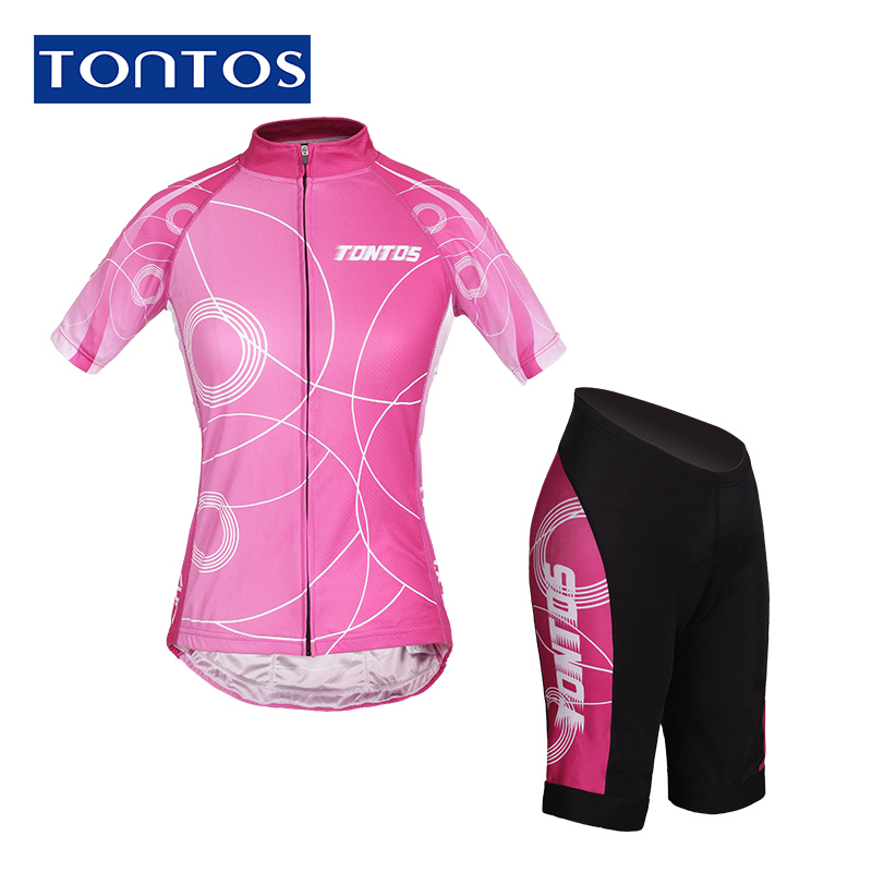 Tontos jersey short sleeve suit female spring and summer since the road mountain bike cycling shorts cycling clothing equipment