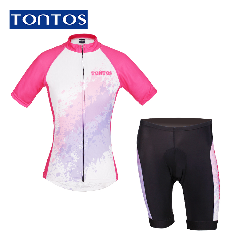 Tontos suit spring and summer women short sleeve jersey bike clothing and equipment mountain bike cycling clothes breathable