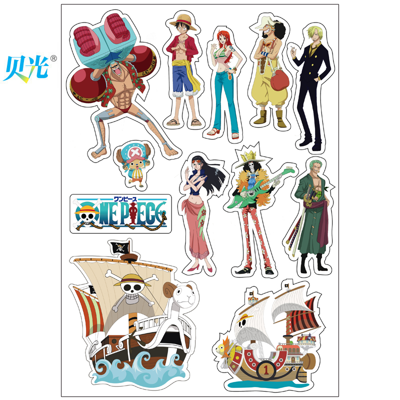 Tony light 117 anime one piece computer stickers retro stickers suitcase stickers dead fly tide brand stickers guitar stickers