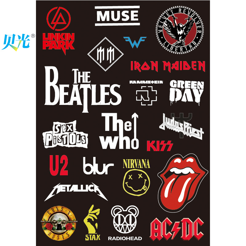 Get quotations · tony light 20 rock band travel luggage suitcase stickers stickers laptop stickers personalized stickers dead fly